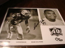 Darrell Malone Autograph / Signed 8 X 10 Photo Miami Dolphins