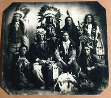 Chiefs Of the Sioux Indians Extremely Rare tintype C1047RP