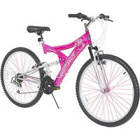 26 Inch Pink Women's Mountain Bike Steel Framed 21 speed Bicycle New Gift