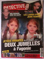 DETECTIVE du 25/11/2009; Trieber arrêté/ Alice Taglioni veuve à 33 ans