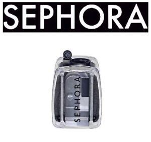 NEW Sephora Clear Hinged Professional Quality Slim Pencil Sharpener