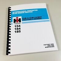 International Cub 154 184 185 Lo Boy Tractor Mower Service Shop Repair Manual IH