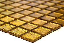 GOLD Translucent Mosaic tile GLASS WALL Bathroom & Kitchen Splashback-120-0742_b