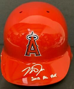 Mike Trout Signed Auto Angels Fulls Size Helmet 2012 AL ROY MLB Holo VS 547126 .