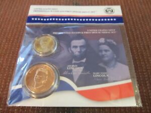 2010 Abraham Lincoln Presidential Mary Todd First Spouse Coin & Medal Set Sealed