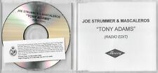Joe Strummer & The Mescaleros (The Clash) - Tony Adams - Scarce 1trk promo CD
