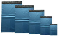 Metalic Blue Mailing Bags Postal Sacks Plastic Envelopes Self Seal All Sizes