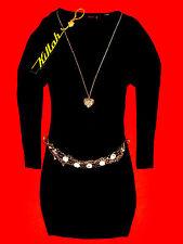 KILLAH oversized taglio lungo camicia abito nero Boho S 36 38 NUOVO!!! TOP!!!