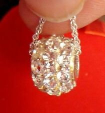 """Charm Necklace 18"""" Bling Nwt 925 Sterling Silver Rhinestone"""