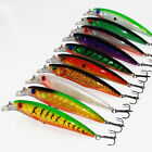 10Pcs11cm Plastic Laser Minnow Hard Fishing Lure Bass Crank Bait Saltwater Lure