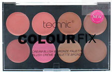 Technic Colour Fix Blush & Bronze Palette, 8 shades of Cream Blusher and Bronzer