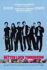 BETTER LUCK TOMORROW Movie POSTER 27x40 Parry Shen Jason J. Tobin Shirley