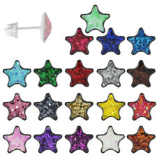 1 Paar Ohrstecker Ohrringe 316L Chirurgenstahl glitzernder Stern