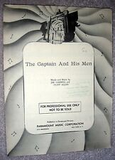 1941 THE CAPTAIN AND HIS MEN Vintage Sheet Music by Carroll, Allen (Little Boy)