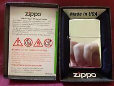 Zippo High Polished Chrome Lighter with box