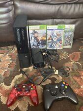 Xbox 360 E Slim bundle W/ 2 Controller 3 Games Working Great