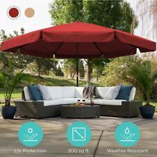 16ft ExtraLarge Outdoor Patio Market Umbrella w/ Cross Base, Crank, & Frame