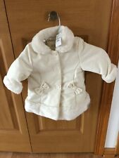 The Children's Place Button Faux Fur Collar/Sleeve Ends/Bottom Jacket 6-9M