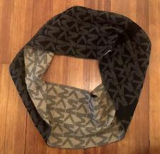 NWT Michael Kors Women's MK Logo Infinity Loop Scarf Brown / Black 537496CL $52