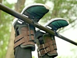Leather Inversion Boot Gravity Guiding System Pair Boots Ankle Holders 330 LB