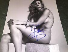 Gigi Hadid Nude Covered Sports Illustrated Model B&W Hand Signed 11x14 Photo COA