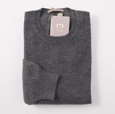 NWT $850 CRUCIANI Solid Gray Soft Knit 100% Cashmere Sweater XXL (Eu 58)