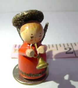 Angel with Horn Miniature Wood Decorative Printers Tray Tiny Vintage