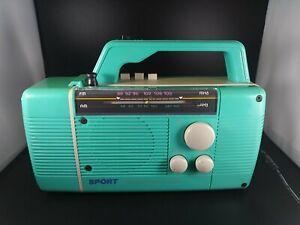 Vintage HopeSonic AM/FM Cassette Radio with Flashlight - Classic 80s Colors
