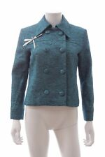 A.W.A.K.E. Metalic Double Breasted Jacket / Blue / RRP: £790.00
