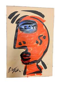 Painting On paper Peter  Robert Keil 18@12 blue black