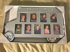 School Bus Shaped Picture Frame Back To School 9 Openings Silver