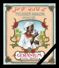 Vintage French Perfume Label: Geranium, Pelissier Aragon - Grasse (small)