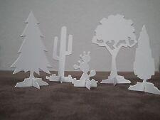 Tim Holtz Sizzix village paysage arbres logement Die Cut Kit Precut Building