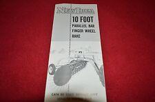 New Idea 10 Foot Parallel Bar Rake Finger Wheel Dealer's Brochure GDSD5