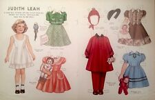Vintage Pat Stall Judith Leah & her Frocks Paper Doll Uncut 1985, From Sears Cat