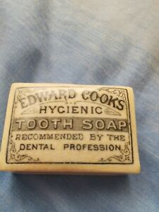 Antique EDWARD COOK'S Hygienic Tooth Soap b/w Pot Lid