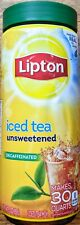 Lipton Black Iced Tea Mix, Decaffeinated Unsweetened, 30 qt (Pack of 5)