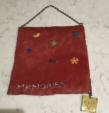 Magnetic Bulletin Memory Photo Display Board Wall Hanging 11 X 11 Plus 6 Magnets