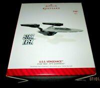 HALLMARK ORNAMENT STAR TREK 2014 USS VENGEANCE~NEW~TESTED W/NEW BATTERIES~W/TAG