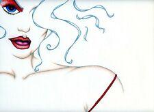 STARLET Hollywood Female Figure Woman Original Pencil Illustration Art Drawing