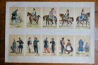 Soldat armée française  lithographie en couleur & gommée 39 x 57 cm