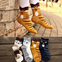 1 Pair Cartoon Cat Animal Women Cotton Short Socks Ankle Socks Lady Warm Sock