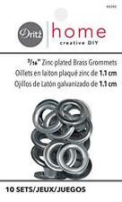 Dritz Home 44390 Grommets, 7/16-Inch, Zinc-Plated Brass (10-Sets)