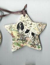 Cocker Spaniel Dog X1 Ceramic Hand Made Xmas Decoration -NEW- MUST L@@K!