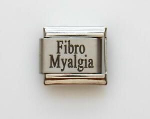 Fibro Myalgia Medical Alert for Italian Charm Bracelets Free Medical Wallet Card