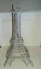 """18"""" Tall Silver Metal Eiffel Tower"""