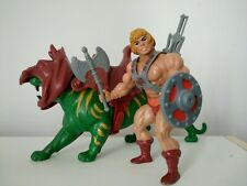 Vintage He Man figure 1981 & and  Battle Cat. Complete Masters of the Universe.