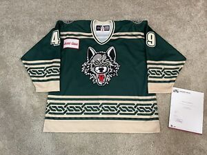 Chicago Wolves CCM St Patricks Authentic Game Issued Specialty AHL Jersey