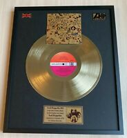 Led Zeppelin III 1970 Vinyl Gold Metallized Record Mounted In Frame