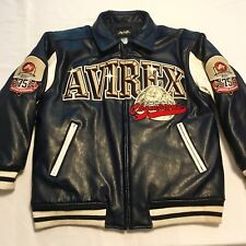 Avirex Mens Vtg Faux Leather Varsity Jacket 3XL All Star Dunk Champions Bomber